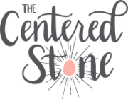 The Centered Stone Logo Grey on White
